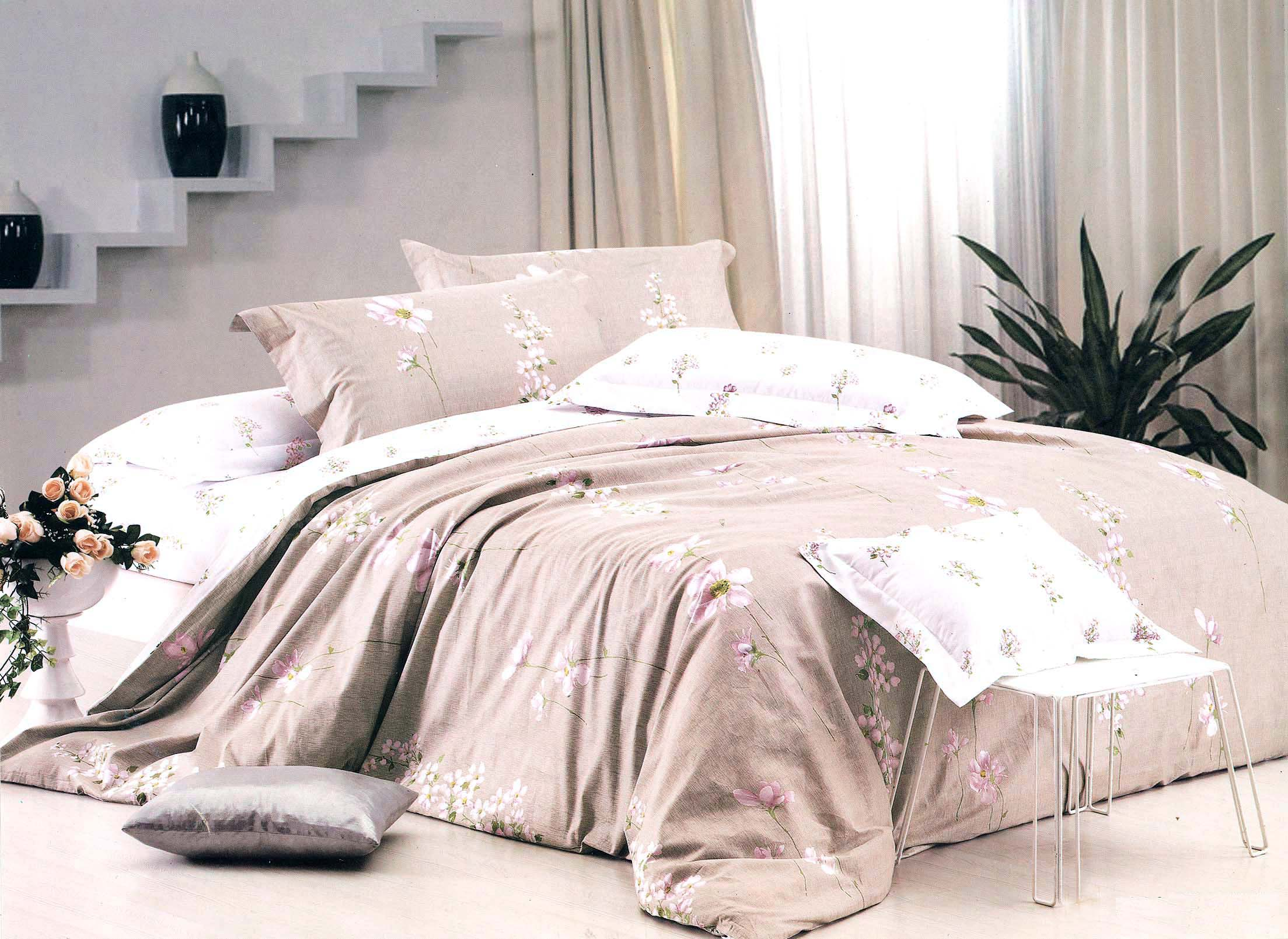 comforter grey printed luxurious for most of summer set materials image